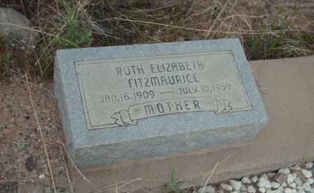 FITZMAURICE, RUTH ELIZABETH - Gila County, Arizona | RUTH ELIZABETH FITZMAURICE - Arizona Gravestone Photos