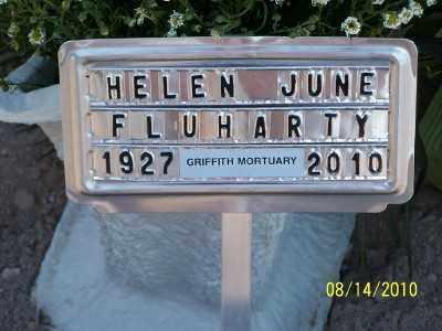 FLUHARTY, HELEN JUNE - Gila County, Arizona | HELEN JUNE FLUHARTY - Arizona Gravestone Photos