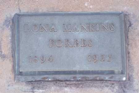 MANKINS FORBES, LONA - Gila County, Arizona | LONA MANKINS FORBES - Arizona Gravestone Photos