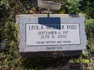 FOSS, LEOLA  MULLER - Gila County, Arizona   LEOLA  MULLER FOSS - Arizona Gravestone Photos