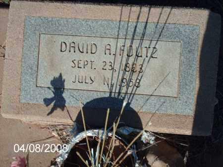 FOUTZ, DAVID A. - Gila County, Arizona | DAVID A. FOUTZ - Arizona Gravestone Photos
