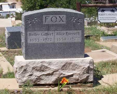 EVERETT FOX, ALICE - Gila County, Arizona   ALICE EVERETT FOX - Arizona Gravestone Photos
