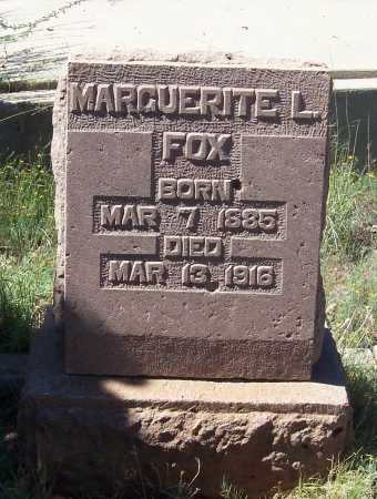 LANSDON FOX, MARGUERITE - Gila County, Arizona | MARGUERITE LANSDON FOX - Arizona Gravestone Photos