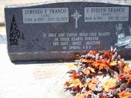 FRANCO, EVELYN - Gila County, Arizona   EVELYN FRANCO - Arizona Gravestone Photos