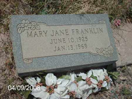 FRANKLIN, MARY JANE - Gila County, Arizona | MARY JANE FRANKLIN - Arizona Gravestone Photos