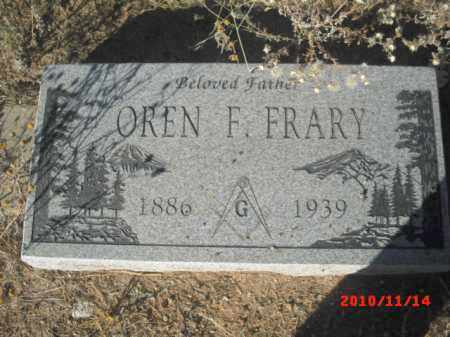 FRARY, OREN F. - Gila County, Arizona | OREN F. FRARY - Arizona Gravestone Photos