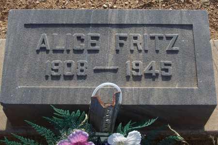 FRITZ, ALICE - Gila County, Arizona | ALICE FRITZ - Arizona Gravestone Photos
