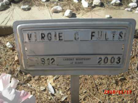 FULTS, VERGIE C. - Gila County, Arizona | VERGIE C. FULTS - Arizona Gravestone Photos