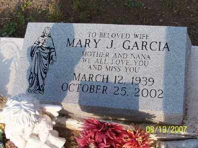 GARCIA, MARY J. - Gila County, Arizona | MARY J. GARCIA - Arizona Gravestone Photos