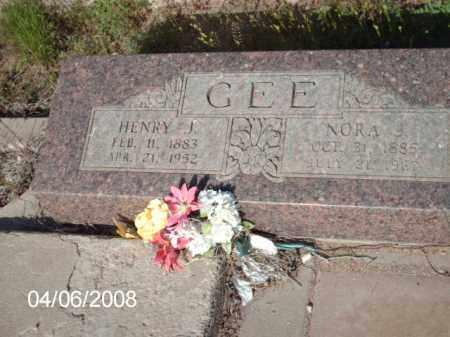 GEE, NORA J. - Gila County, Arizona | NORA J. GEE - Arizona Gravestone Photos