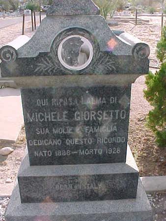 GIORSETTO, MICHELE - Gila County, Arizona | MICHELE GIORSETTO - Arizona Gravestone Photos