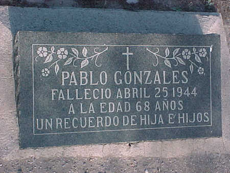 GONZALES, PABLO - Gila County, Arizona   PABLO GONZALES - Arizona Gravestone Photos