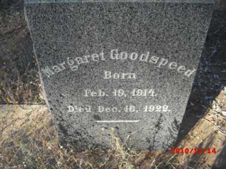 GOODSPEED, MARGARET - Gila County, Arizona   MARGARET GOODSPEED - Arizona Gravestone Photos