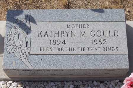 GOULD, KATHRYN M. - Gila County, Arizona | KATHRYN M. GOULD - Arizona Gravestone Photos