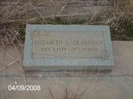 GRANTHAM, ELIZABETH E. - Gila County, Arizona | ELIZABETH E. GRANTHAM - Arizona Gravestone Photos
