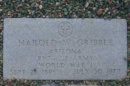 GRIBBLE, HAROLD W. - Gila County, Arizona | HAROLD W. GRIBBLE - Arizona Gravestone Photos