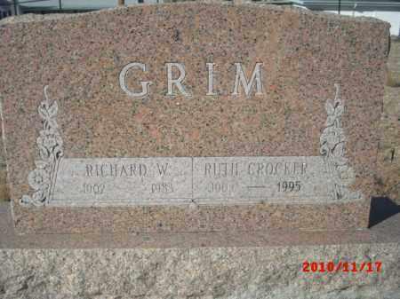 GRIM, RICHARD W. - Gila County, Arizona | RICHARD W. GRIM - Arizona Gravestone Photos