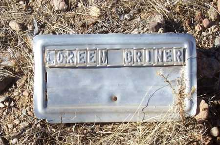 GRINER, LOREEN - Gila County, Arizona | LOREEN GRINER - Arizona Gravestone Photos