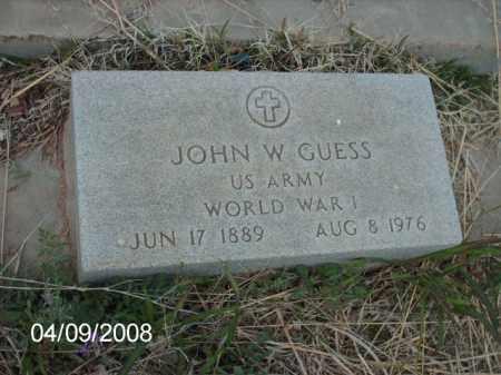 GUESS, JOHN W. - Gila County, Arizona | JOHN W. GUESS - Arizona Gravestone Photos