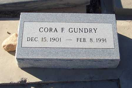 GUNDRY, CORA F. - Gila County, Arizona | CORA F. GUNDRY - Arizona Gravestone Photos