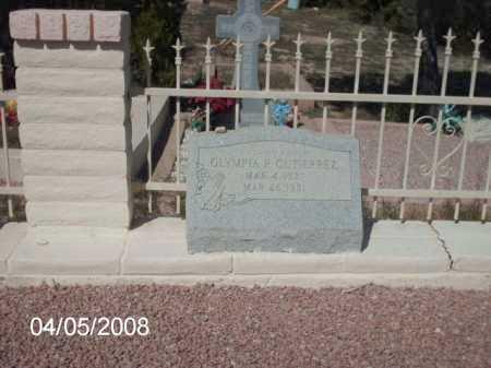 GUTIERREZ, OLYMPIA P. - Gila County, Arizona | OLYMPIA P. GUTIERREZ - Arizona Gravestone Photos