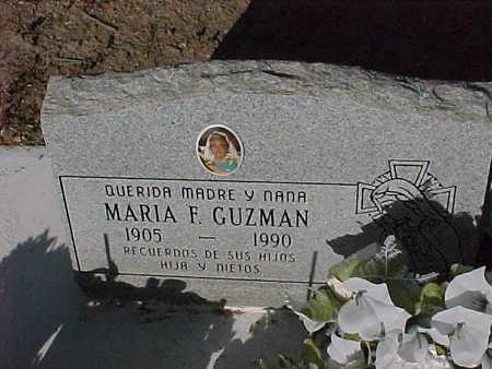 GUZMAN, MARIA  F. - Gila County, Arizona   MARIA  F. GUZMAN - Arizona Gravestone Photos