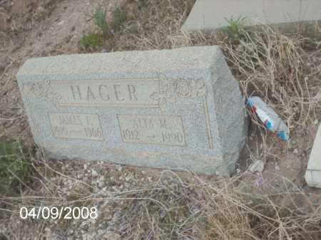 HAGER, ALTA M. - Gila County, Arizona | ALTA M. HAGER - Arizona Gravestone Photos