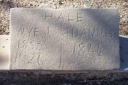 HALE, NYE J. - Gila County, Arizona | NYE J. HALE - Arizona Gravestone Photos