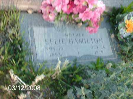 HAMILTON, EFFIE - Gila County, Arizona | EFFIE HAMILTON - Arizona Gravestone Photos