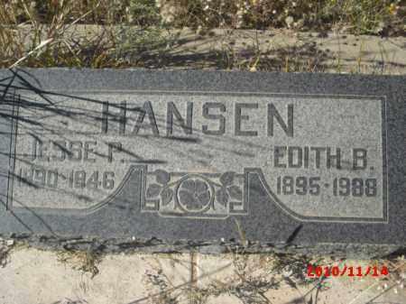 HANSEN, JESSE P. - Gila County, Arizona | JESSE P. HANSEN - Arizona Gravestone Photos