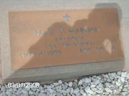 HARDEN, MAX H. - Gila County, Arizona | MAX H. HARDEN - Arizona Gravestone Photos