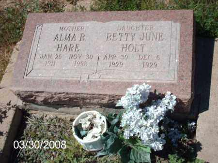 HOLT, BETTY JUNE - Gila County, Arizona | BETTY JUNE HOLT - Arizona Gravestone Photos