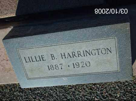 HARRINGTON, LILLIE B. - Gila County, Arizona | LILLIE B. HARRINGTON - Arizona Gravestone Photos