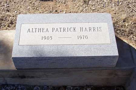 PATRICK HARRIS, ALTHEA - Gila County, Arizona | ALTHEA PATRICK HARRIS - Arizona Gravestone Photos