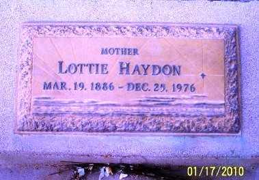 HAYDON, LOTTIE - Gila County, Arizona | LOTTIE HAYDON - Arizona Gravestone Photos