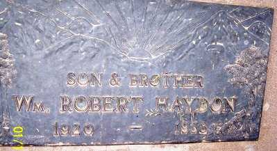 HAYDON, WILLIAM ROBERT - Gila County, Arizona | WILLIAM ROBERT HAYDON - Arizona Gravestone Photos