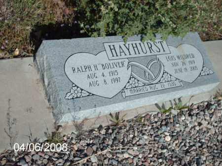 HAYHURST, LOIS MILDRED - Gila County, Arizona | LOIS MILDRED HAYHURST - Arizona Gravestone Photos