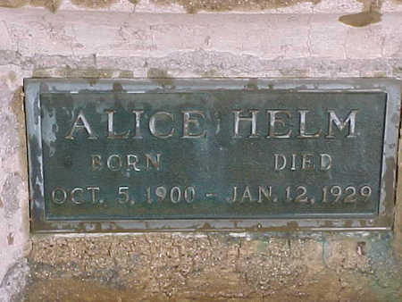 HELM, ALICE - Gila County, Arizona | ALICE HELM - Arizona Gravestone Photos