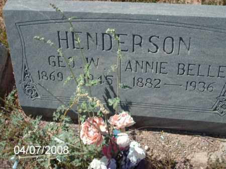 HENDERSON, GEO W. - Gila County, Arizona | GEO W. HENDERSON - Arizona Gravestone Photos