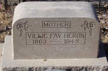 HERON, VILLIA FAY - Gila County, Arizona | VILLIA FAY HERON - Arizona Gravestone Photos