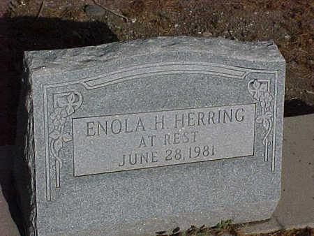 HERRING, ENOLA H. - Gila County, Arizona | ENOLA H. HERRING - Arizona Gravestone Photos
