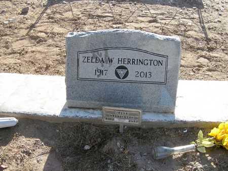 WILLIAMS HERRINGTON, ZELDA - Gila County, Arizona | ZELDA WILLIAMS HERRINGTON - Arizona Gravestone Photos