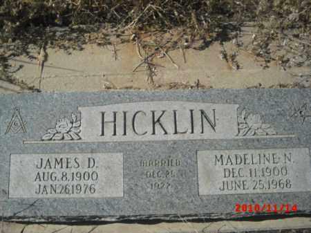 HICKLIN, JAMES D. - Gila County, Arizona   JAMES D. HICKLIN - Arizona Gravestone Photos