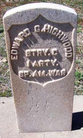 HIGHWOOD, EDWARD G. - Gila County, Arizona | EDWARD G. HIGHWOOD - Arizona Gravestone Photos