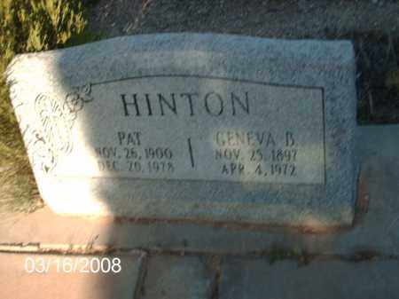 HINTON, PAT - Gila County, Arizona | PAT HINTON - Arizona Gravestone Photos