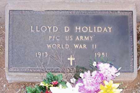 HOLIDAY, LLOYD D. - Gila County, Arizona | LLOYD D. HOLIDAY - Arizona Gravestone Photos