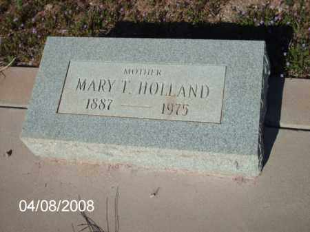HOLLAND, MARY T. - Gila County, Arizona | MARY T. HOLLAND - Arizona Gravestone Photos