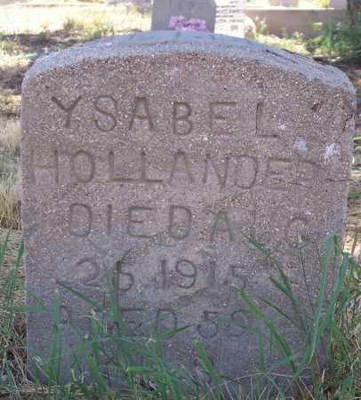HIDALGS HOLLANDER, YSABEL - Gila County, Arizona   YSABEL HIDALGS HOLLANDER - Arizona Gravestone Photos