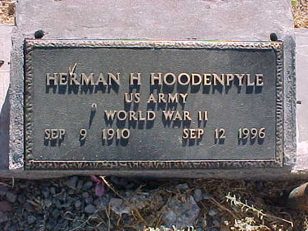 HOODENPYLE, HERMAN  H. - Gila County, Arizona | HERMAN  H. HOODENPYLE - Arizona Gravestone Photos