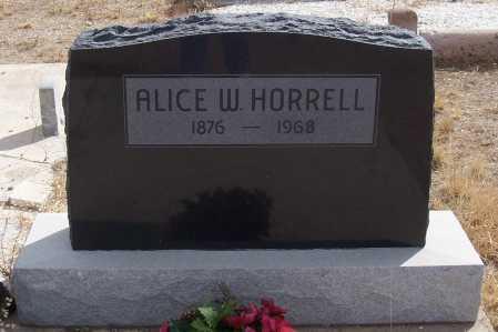 HORRELL, ALICE W. - Gila County, Arizona | ALICE W. HORRELL - Arizona Gravestone Photos